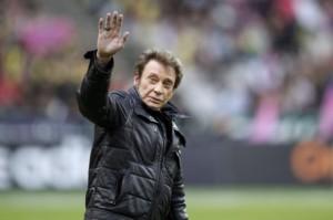 Johnny Hallyday au stade de Bordeaux