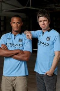 Noel Gallagher et Vincent Kompany