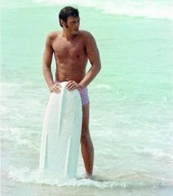 Johnny Hallyday à la plage