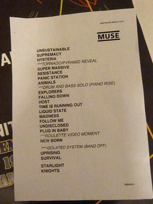 Muse Setlist - Quai Baco