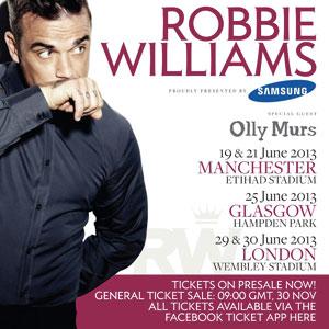 Robbie tournée 2013 - Quai Baco